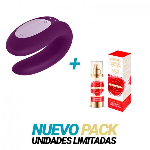 Satisfyer Double Joy Morado + Mai Frutos Rojos