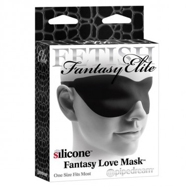 FETISH FANTASY ELITE MASCARA DE SILICONA NEGRA
