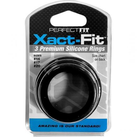 Xact Fit Kit 3 Anillos De Silicona - 3.5 Cm, 4 Cm y 5 Cm